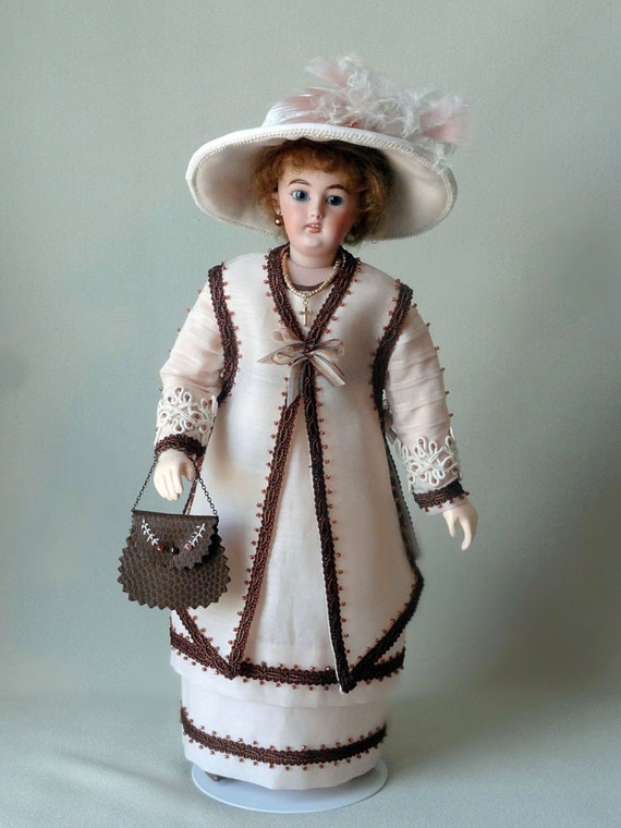 "12"" French Fashion doll  pattern for circa 1912 clothing, Downton Abbey era"