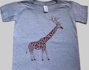 Kids / Toddler Giraffe T Shirt Organic
