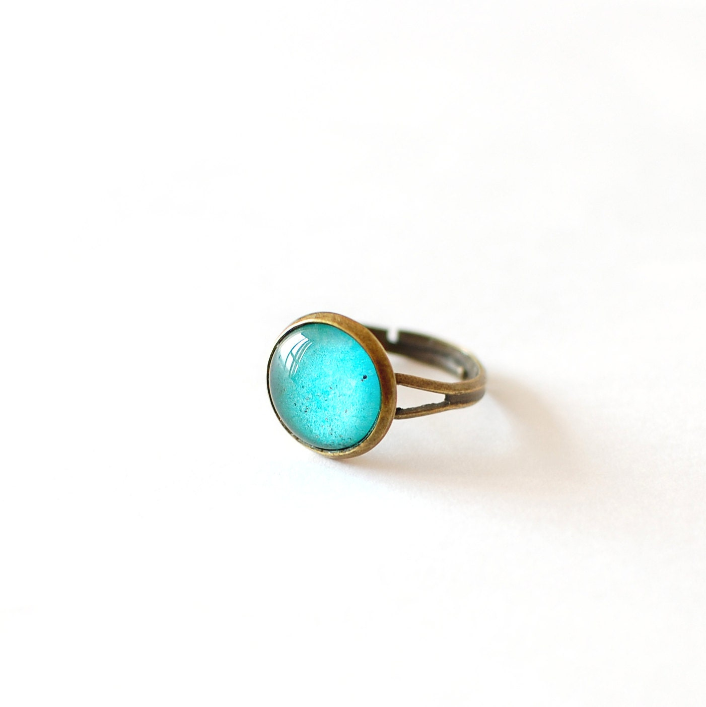 emerald green ring emerald glass dome ring by