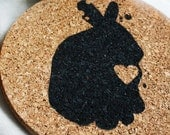 Bunny Rabbit Pot Holders - Set of 2 - Housewares - Eco-friendly Cork Trivet - Kitchen -  Home - Cooking