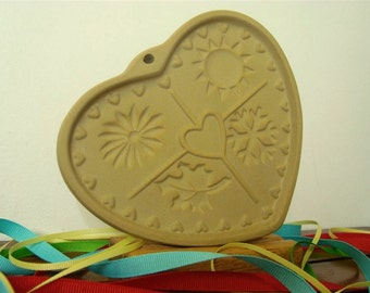 Seasons of the Heart Cookie Mold Summer Sunshine Fall Winter Spring