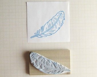 Feather Hand Carved Stamp