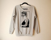 Mens Hand Printed Tattoo Lady Sweater by emilythepemily