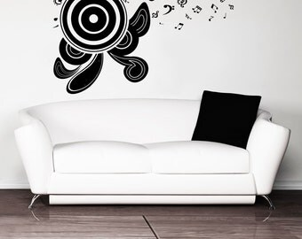 Vinyl Wall Decal Sticker Abstract Speakers 1087s