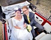 Tea Length Wedding Dress with Sleeves and Pockets - Janie Jones