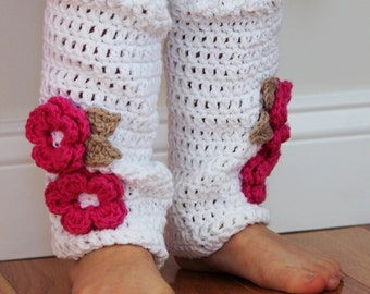 Crochet Baby Leg Warmers, girls legwarmers, toddler leggings, baby legwarmers, any color