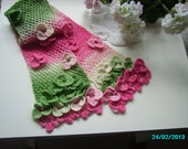 Apple Blossom Crocheted Scarf pattern