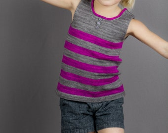 PDF file KNITTING PATTERN for girls summer tank or tunic