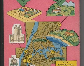 Vintage book NY Pulp Fiction The Heart Remembers by Faith Baldwin J GGA Mapback New York Dell Romance paperback  1941