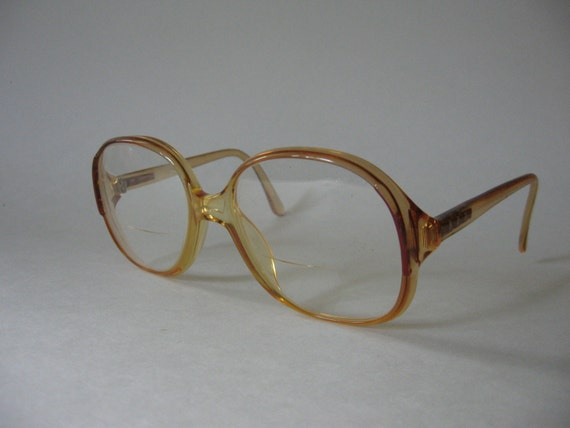 zeiss west german vintage 70s eyeglasses plastic frames