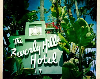 Beverly Hills Hotel Sign -Mid Century Modern Home Decor - Art Deco - iPhoneography - Housewarming Gift - Fine Art Photography