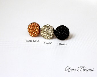 Rock N Roll and Punk Round Chess Board Stud Earrings Unisex Chic Geometric Post - Choose your color