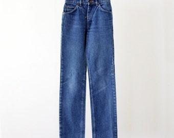 high waist jeans, 1980s Lee denim jeans, high waisted denim waist 26