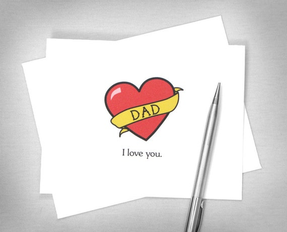 Father 39 s day card dad tattoo dad i love you by for Dad i love you tattoo
