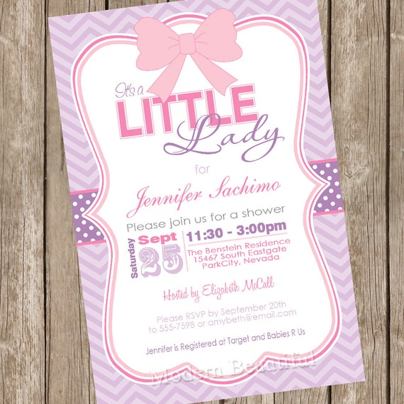 Its a little lady girl baby shower invitation pink purple il570xn filmwisefo