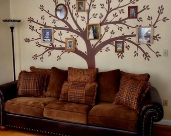 Family Tree Decal - Photo Frame Tree Wall Sticker