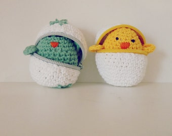 Easter Crochet Pattern - eggs & baby chicks amigurumi PDF - Instant DOWNLOAD