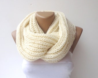 ON SALE // Knit Scarf ,Valentines Day Gifts Gifts For Her Knit Infinity Scarves Chunky Knit Scarf Cowl Scarf Men Scarf Circle Scarf Winter