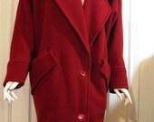 80s vintage wool oversized coat