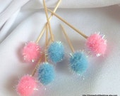 Gender Reveal Decorations, Appetizer Sticks, Baby Shower Decor, 24pcs