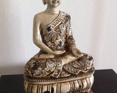 Buddha Statue Feng Shui Decor Buddha Figure Buddha Sculpture Buddha Hindu Statue Fengshui Asian Zen Zen Decor Home Decor Ivory Buddha - phantomas2011