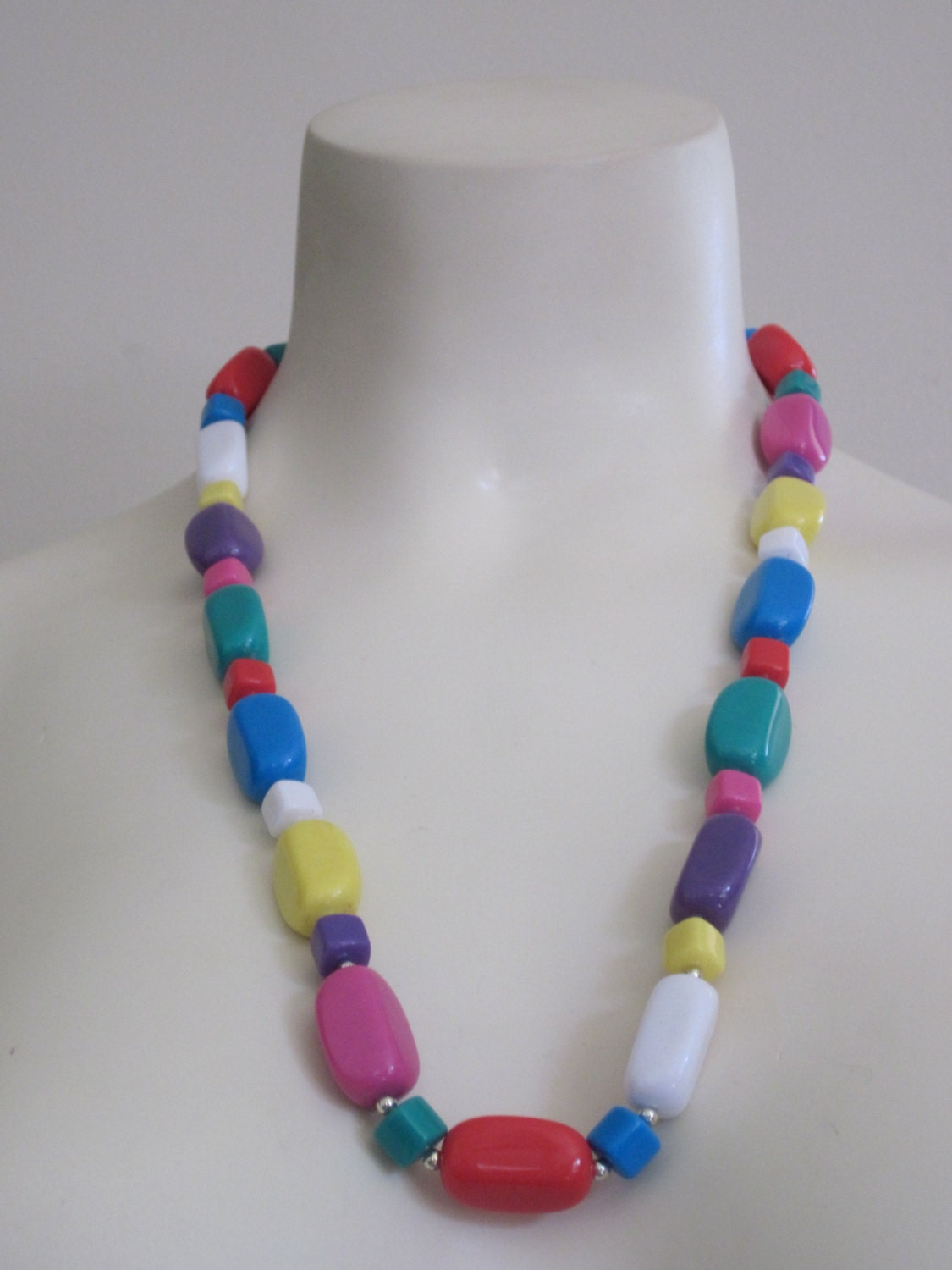 jewelry necklace 80s jewelry colorful