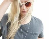V Necklace- Statement necklace- Minimal Necklace- Geometric Necklace- Brass Necklace- Silver Necklace.