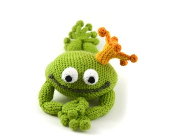 Handsome Frog Prince Crochet Pattern, Frog Crochet Pattern, Amigurumi Frog Pattern, Crochet Frog Amigurumi, Prince Crochet Pattern