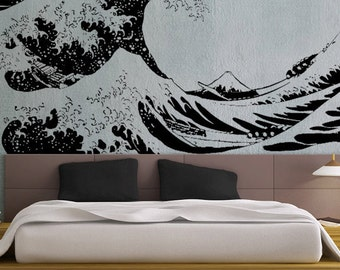 Japanese Great Wave Hokusai LARGE - uBer Decals Wall Decal Vinyl Decor Art Sticker Removable Wall Decals A869