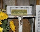 Welcome To My Garden Sign Country Home Decor Signs Garden Decor