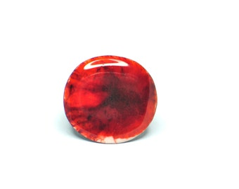 SALE. Resin ring and wood. Modern jewelry. Contemporary jewelry. Wood jewelry. Red resin. Resin jewelry. OOAK