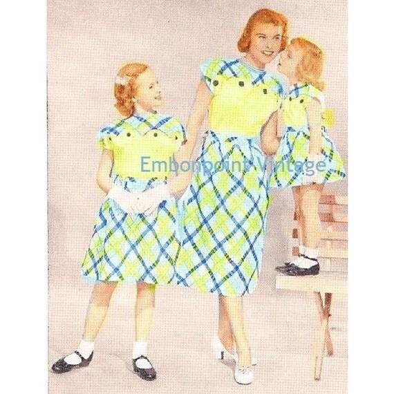 Plus Size (or any size) Vintage 1949 Dress Sewing Pattern - PDF - Pattern No 101 102 Lou