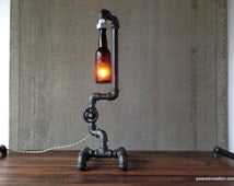 Industrial Lighting - Steampunk Light - Table Lamp - Bar Furniture