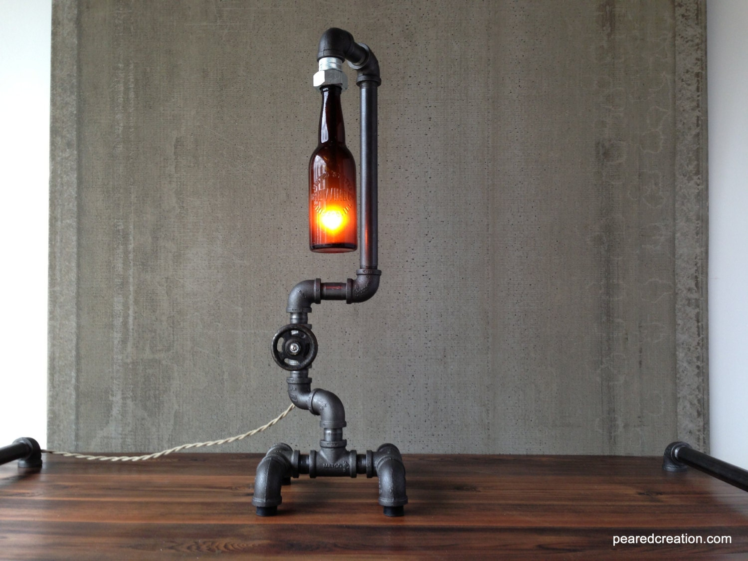 Industrial Lighting Steampunk Light Table Lamp Bar