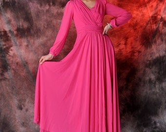 45% off rose chiffon maxi dress