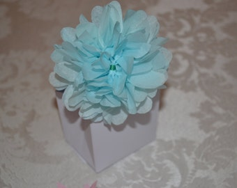 40 Wedding Bag Favors with Tissue Flower_FOR KCROTTY