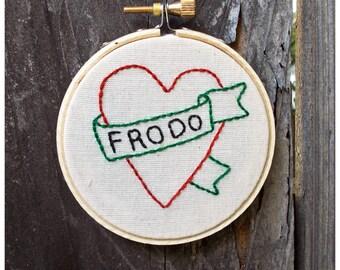 Hobbit Love Mini Embroidery Hanging Hoop