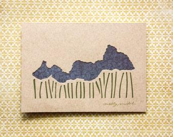 Cut Paper Art: 30% off ABSTRACT GARDEN (5x7)