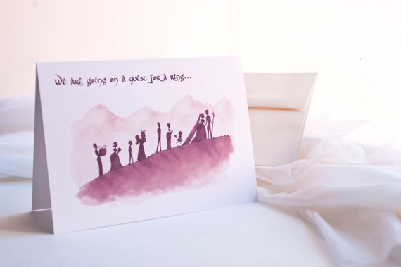 Nerdy Bridesmaid or Groomsmen Card // Geek Wedding Cards // Lord of the Rings // Gift for Bridal Party