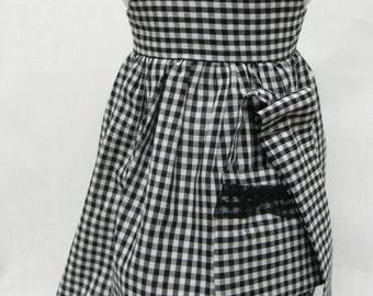 Black Gingham Sundress  for 18 inch doll like the American Girl.