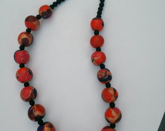 Watercolor Effect Necklace