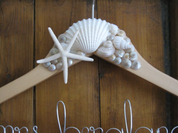 RESERVED for Jacquelyn - 2 beach bridal hangers