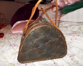 "RARE Vintage Wooden Purse-Rare ""Mississippi Queen"""