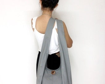 Handbags Canvas Bag Cotton bag Shoulder bag Sling bag Hobo bag Boho bag Messenger bag Tote bag Crossbody bag Purse  Light Gray