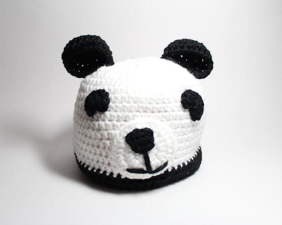 panda m tze h keln tier m tze mit ohren winter zubeh r bear. Black Bedroom Furniture Sets. Home Design Ideas
