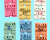 Retro U.K. Bus Tickets - England - Perfect for Collage and Mixed Media