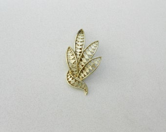 vintage pin stunning abstract leaves, a 1960s brooch mid century jewelry