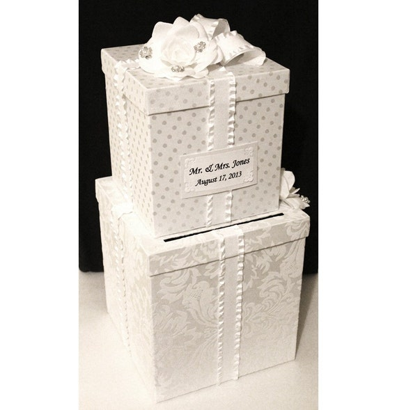 Wording For Wedding Gift Card Box : Wedding Card Box White. Money Card Box. Wedding Card Holder