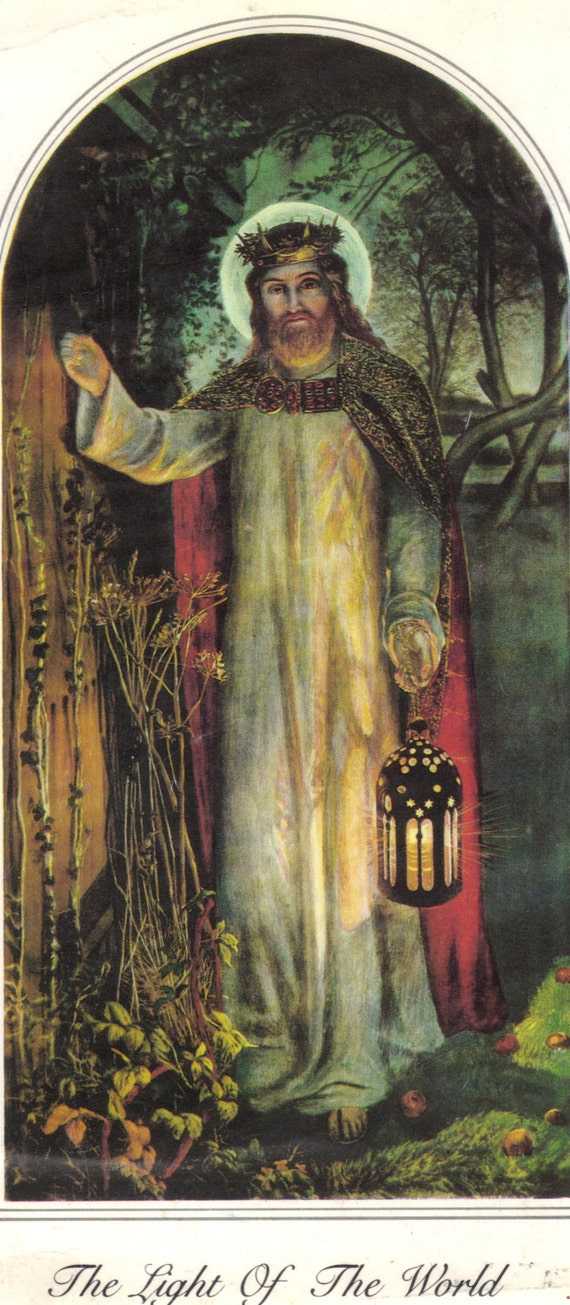 Light Of The World Print By Holman Hunt