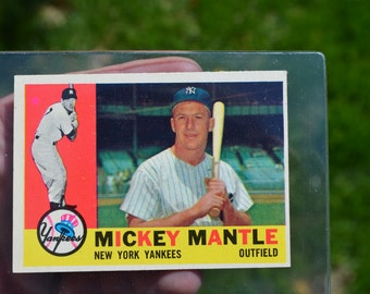 Mickey Mantle 1960 Topps 350 baseball card in Great Condition